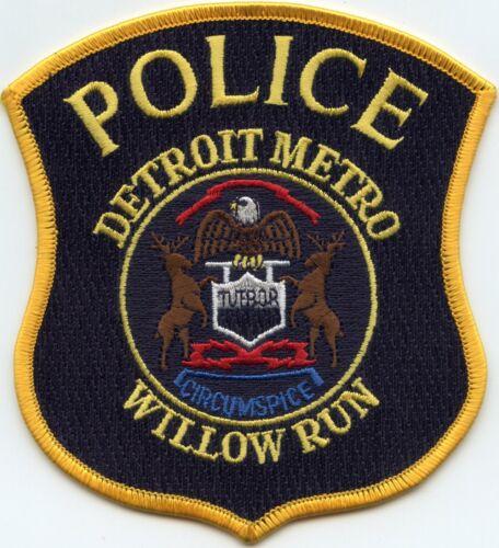 DETROIT METRO WILLOW RUN AIRPORT MICHIGAN MI POLICE PATCH