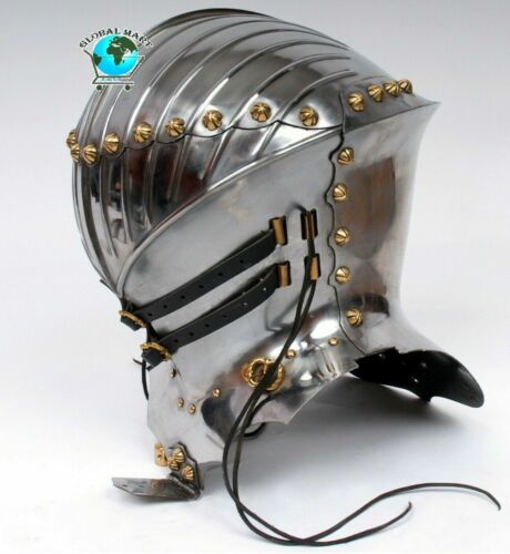 Medieval 18 Guage Steel Jousting Knight Fighting Helmet Halloween Costume