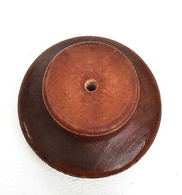Gorgeous Maple Knob Wood Antique Drawer Pulls Vintage Mushroom Furniture Parts 6