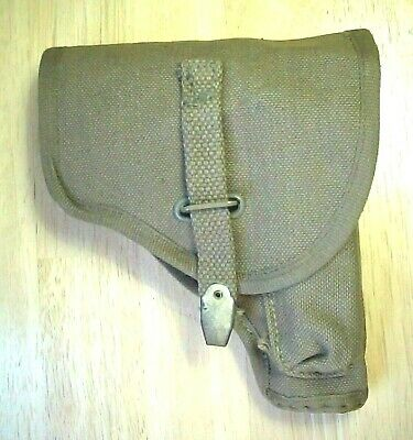 Italian Military Canvas Holster for Beretta 1934 70 .380 9mm Walther P64 for sale  USA