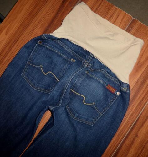 7 FOR ALL MANKIND FULL PANEL A PEA IN THE POD MATERNITY BOOTCUT JEANS 32x29 MINT