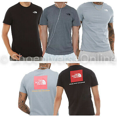 Men's The North Face TNF Redbox T Shirt 100% Cotton Short Sleeve Crew Neck Tee