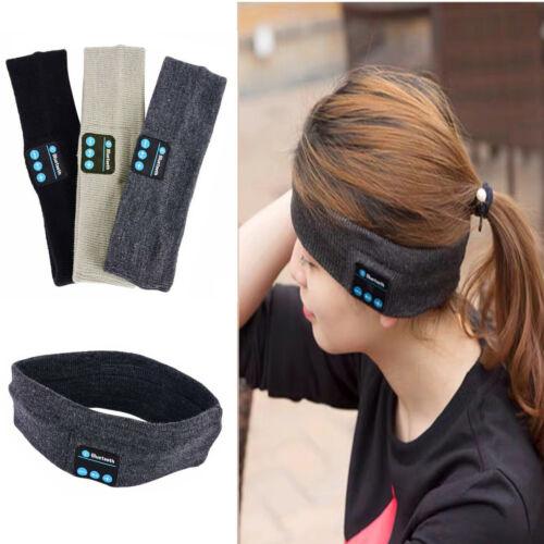 Wireless Bluetooth Sports Music Headband Headset Headphone Gym Sleep Head Band