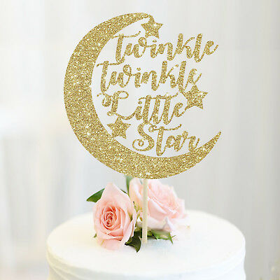 Twinkle twinkle little star cake topper moon stars baby shower decoration