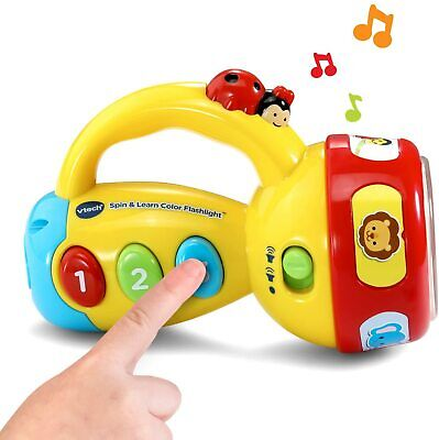 New VTech Spin and Learn Color Flashlight Baby Infant Toddler Kids Toy Game