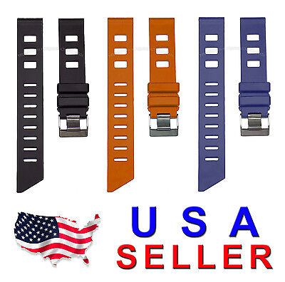 20mm iSO-Rally Rubber Watch Band Strap for Scuba Diver Sports Diving Watch