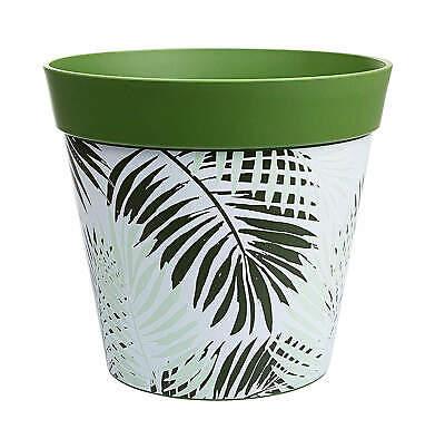 Hum Flowerpots, dark green fern plant pot, outdoor/indoor planter 25cm x 25cm