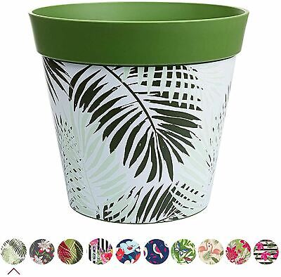 Hum Flowerpots Plant Pot in Green Flamingo Plastic - 25cm x 25cm