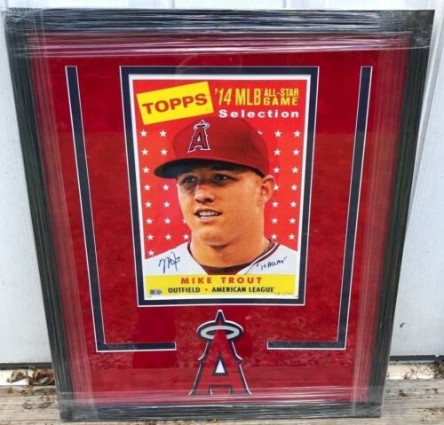 Framed Mike Trout 2014 Topps All Star Jumbo Card Signed/inscribed Le /10 5-tool