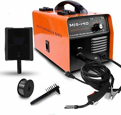 140 Mig Welder Flux Core Wire Gasless Automatic Feed Ac Welding Machine Wmask