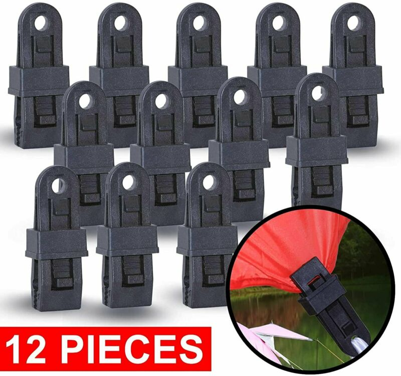 Wellmax Heavy Duty Tarp Clips 12 Pieces, Multi-Purpose Awning Clamps Set with...
