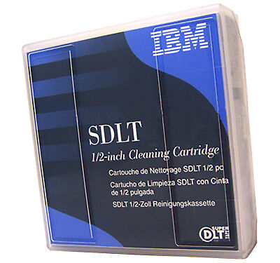 IBM DLT-SDLT 0.5in Cleaning Cartridge NEW 19P4357 1/2-inch Super  Single Pack