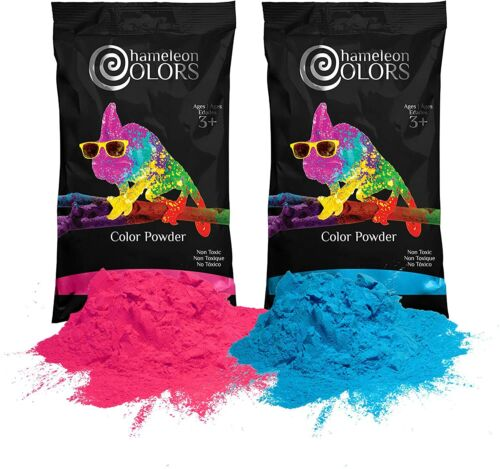 Holi Color Powder Gender Reveal 1 LB Blue and 1 LB Pink ***FREE SHIPPING***
