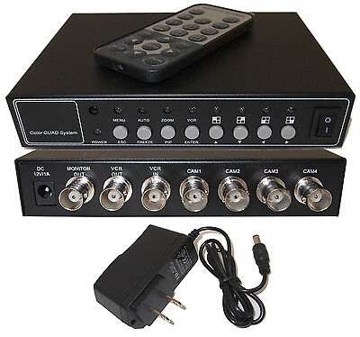 4 Port 4 Channel Color Analog Camera Quad Processor High Quality Splitter Switch