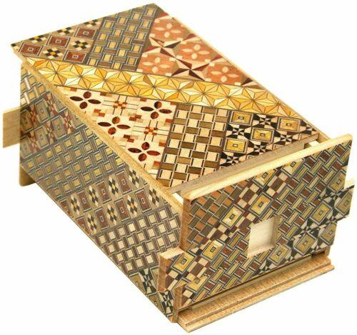 Yosegi Hakone Box Secret Puzzle 35 Step + 1 Step Gimmick Japanese Wooden JP NEW