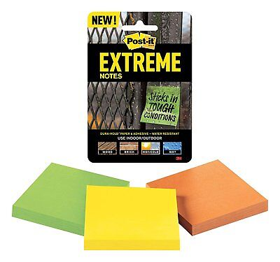 Post-it Extreme Water-resistant Self-stick Notes Multi-colored 3 X 3 3 Pads