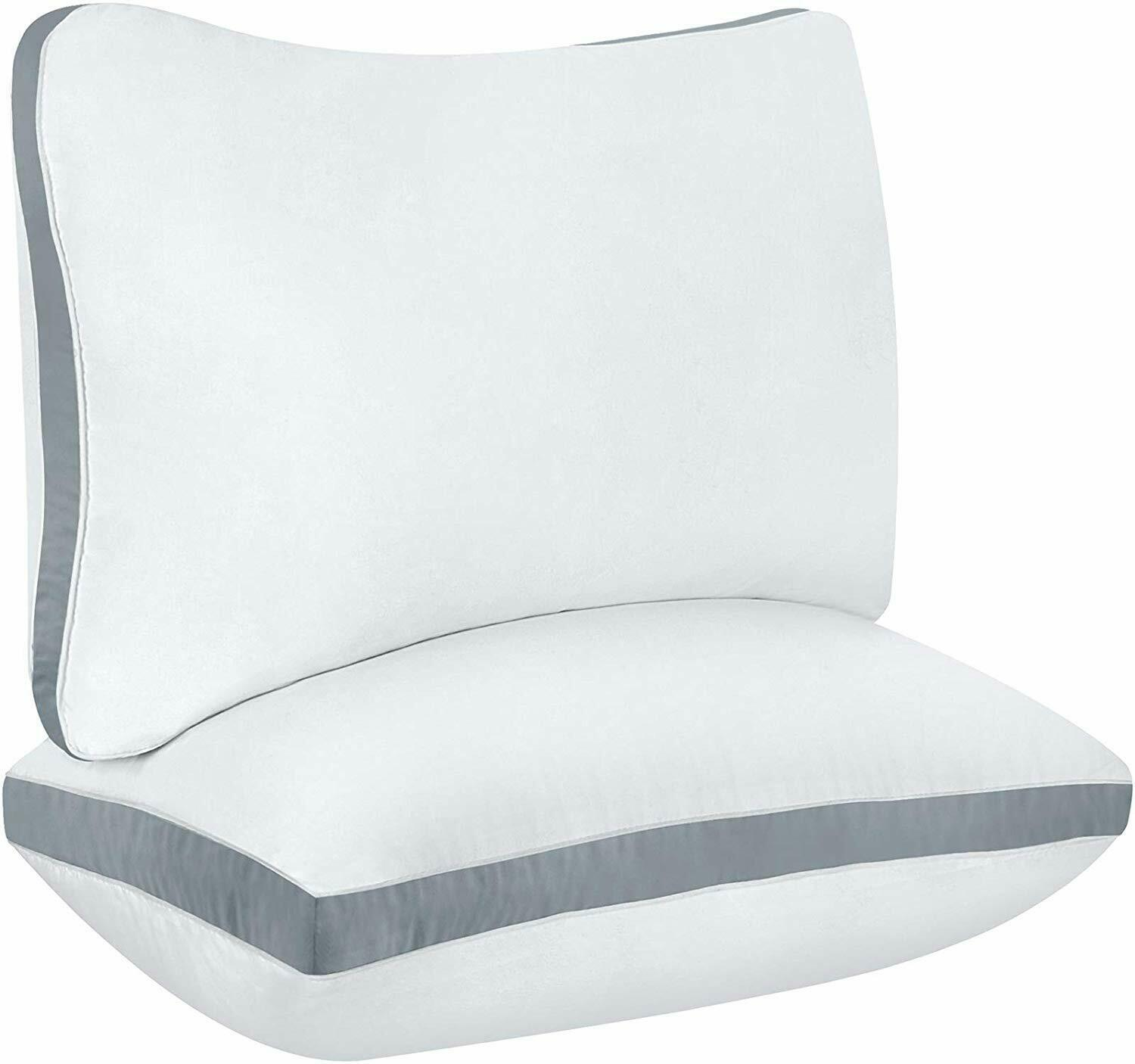 luxury sleeper cotton gusseted pillow available in