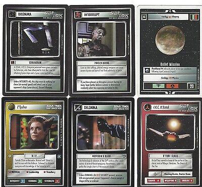 6 cards Star Trek Customizable Card Game CCG - genau die auf dem Scan