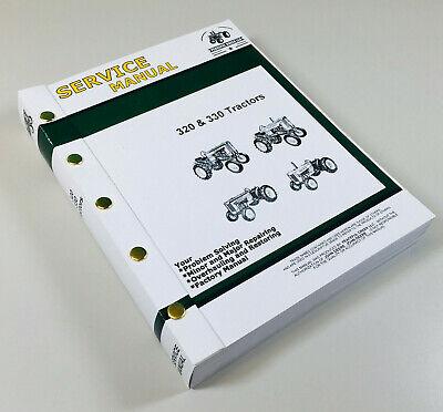 Service Manual For John Deere 320 330 Series Tractor Repair Master Shop Book
