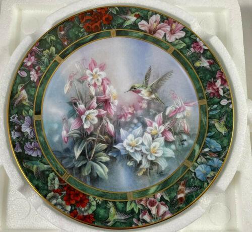 Lena Liu Hummingbird Treasury Plate The Calliope Hummingbird w/COA