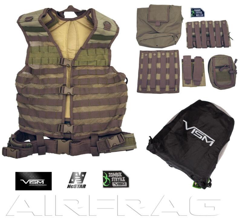 NcSTAR Vism Premium MOLLE / PAL Vest & Accessories Zombie Dead Ops Kit Tan