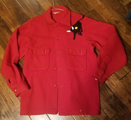 vintage 100% Wool Official Boy Scout Jacket Philmont Bull camp coat