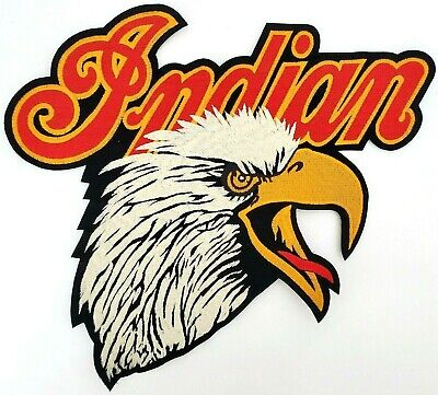 RARE NEW INDIAN MOTORCYCLE Screaming Eagle Head w Script Logo 2XL Patch VTG