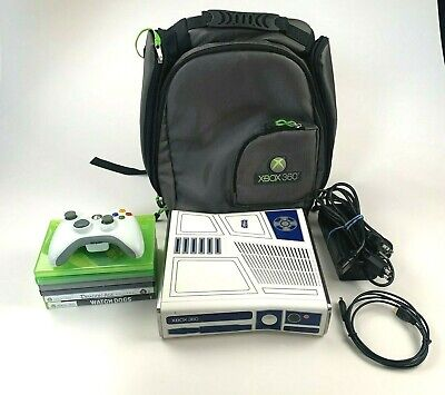 Microsoft Xbox 360 Star Wars Edition 320GB W/6 Games & Backpack *TESTED/WORKING*