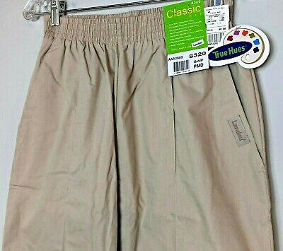 Landau Classic Fit Scrub Pants 8320 Womens SAP Beige Front Seam New With -