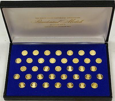 White House Historical Association 24kt Proof Gold Presidential Medals, Franklin