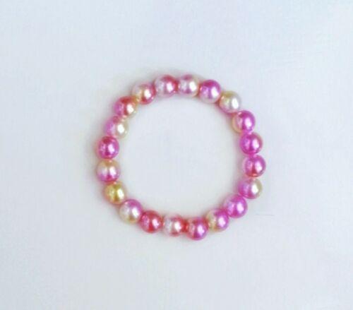 Bright Pearl Bead Bracelet/ Little Girl, Women Handmade Fashion Jewerly Gift