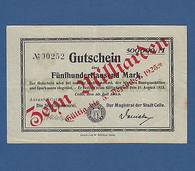 CELLE 10 Milliarden auf 500.000 Mark 1923 III / VF