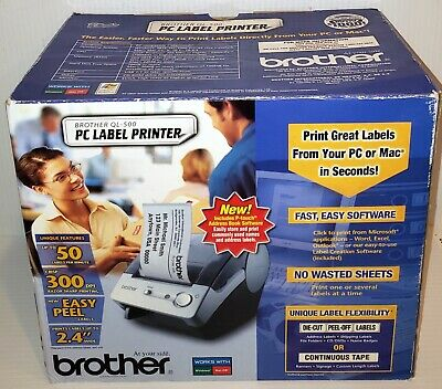 Brand New In Opened Box Brother Ql-500 Label Thermal Printer Windows Mac