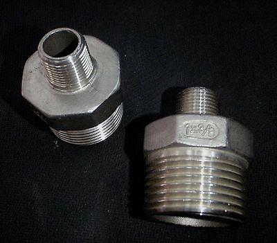 Stainless Steel Reducer Nipple 1 X 38 Npt Pipe Rn-100-037