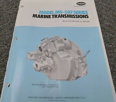 Twin Disc Mg-507a-1 Transmission Assembly Dimensional Specifications Manual