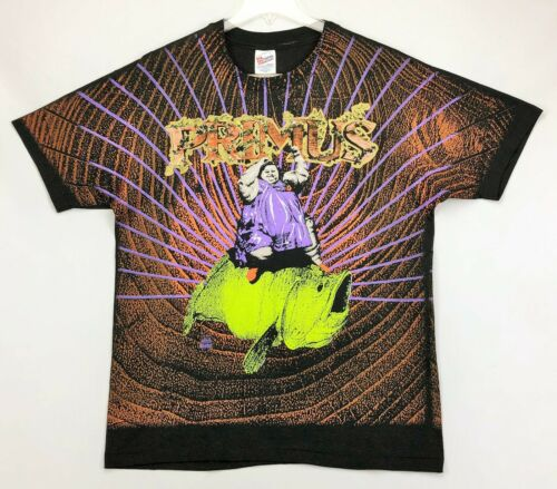 PRIMUS Original Vintage 90s 1993 T-Shirt XL Winterland All Over Print