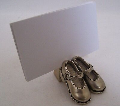 Pewter Shoe Store Business Card Holder Retail & Shoe Repair Shops, Dance & More