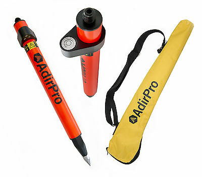 Adirpro Mini 1.28 Stakeout Orange Prism Pole Surveying Topcon Sokkialeica