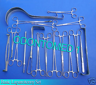 108 Instruments Basic Laparotomy Set Surgical Medical