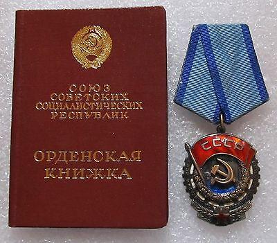 Orden-Medaille. 1.Orden des Roten Arbeitsbanners. Russland. UdSSR. Echt.