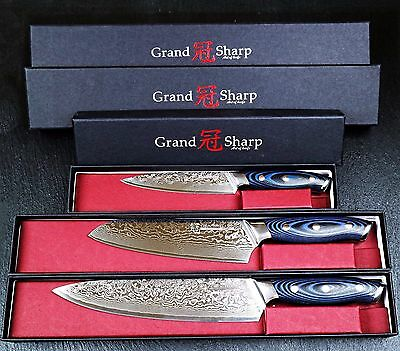 Kitchen Knife Set Japanese Damascus Stainless Steel 8 Chef Cutlery Butcher Pro