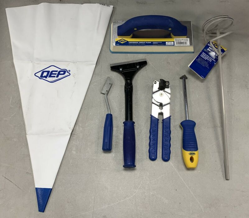 USED QEP Float/Paddle/Latex Bag/Grout Removal/Tile Cutter/Scraper/Grout Saw