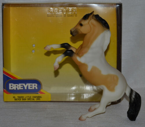 Breyer~1993~Little Chaparral~Rearing Stallion Buckskin Pinto~Classic~With Box
