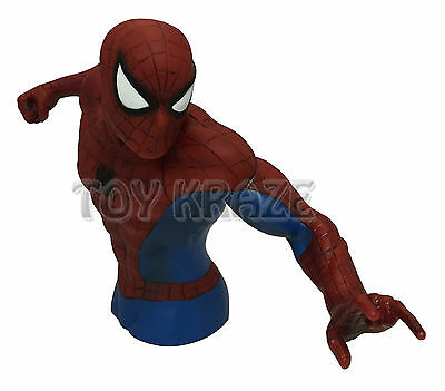- THE AMAZING SPIDER-MAN BUST BANK! MARVEL HALF BODY PIGGY FIGURE MONEY COIN NEW