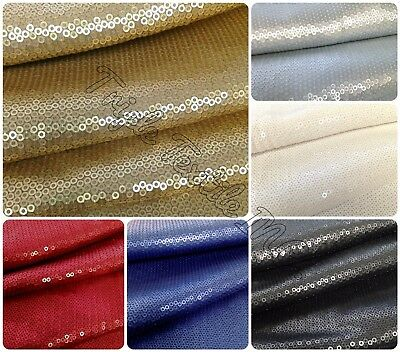 Solid Spandex Matte Jersey (3mm Micro Mini Matte Sequins on Stretch Polyester Spandex Knit Jersey)