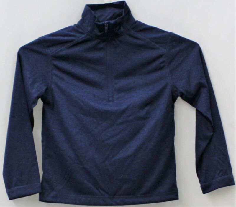 Chaps Boys School Approved Performance Quarter Zip Navy Marl Shirt XL(18-20)