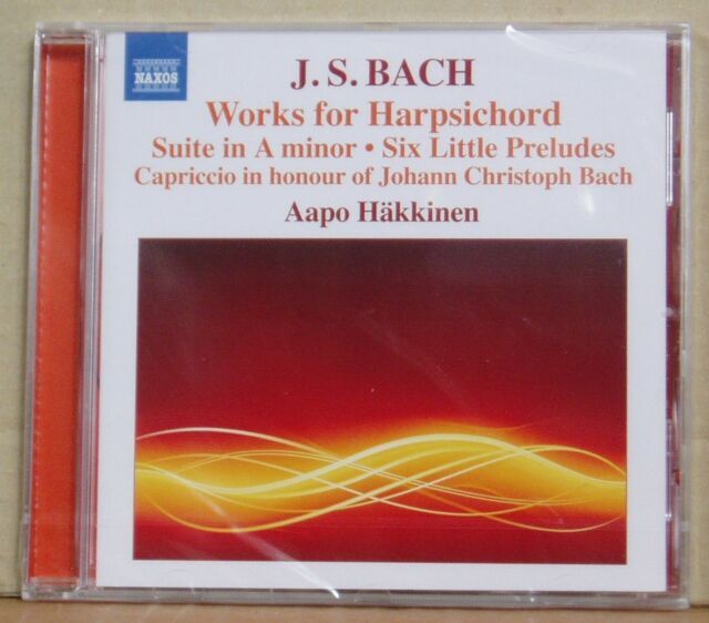 CD J.S.Bach Works for Harpsichord Aapo Häkkinen Naxos 2015 neu & ovp