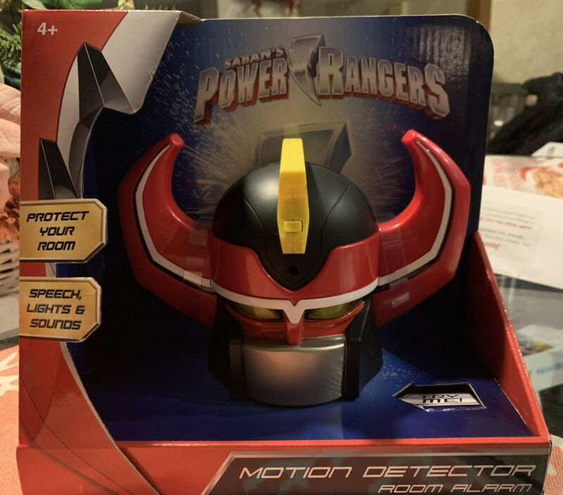 Saban's Power Rangers, Mega-Zord Motion Alarm Clock, NIB, Speech, Lights, Sound