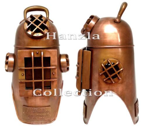 "20"" Copper Antique Finish Diving Hood Helmet Marine Brass Scuba Divers US Navy"