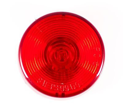 "2.5"" Inch Red Round Sealed Side Marker Clearance Light - Truck/Trailer - Qty 1"